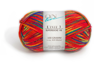LINIE   3 SUPERSOCKE 100 COLOR